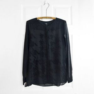 MEXX sheer black button up blouse US 8